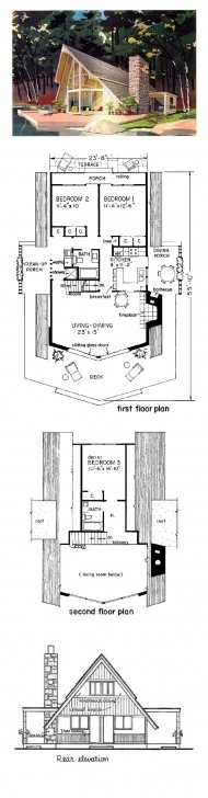 Latest 51 Best A-Frame House Plans Images On Pinterest | Architecture A Frame House Plans 3 Bedroom Picture