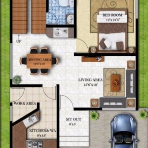 30 40 House Plans East Facing With Car Parking