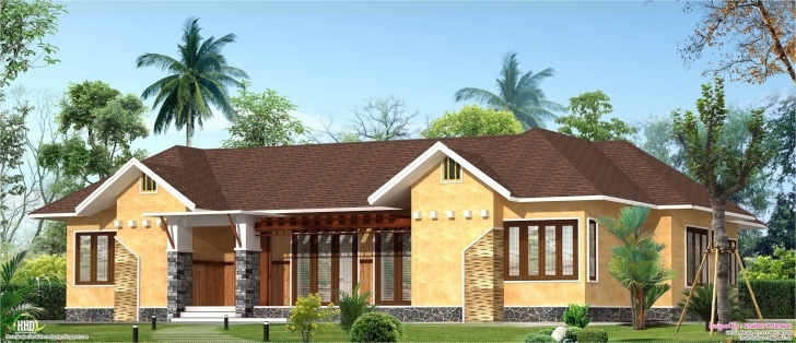 Latest Eco Friendly Single Floor Kerala Villa - Kerala Home Design And Eco Friendly House Model Kerala Picture