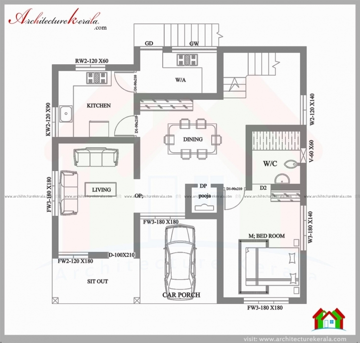 Latest Elegant 3 Bedroom House Plans In 4 Cents - House Plan House Plans 4 Cent Plot Image