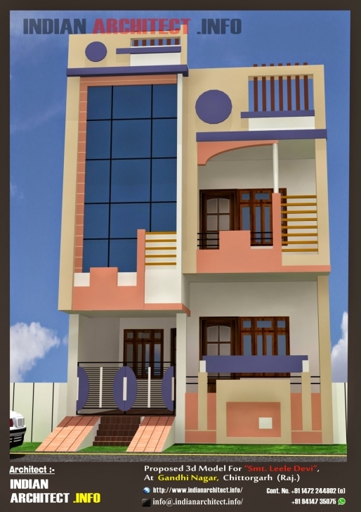 Latest Home Idea Blog-Ifi: Home Design 20 50 Front Elevation Of Indian House 30X50 Site Ground Floor Image