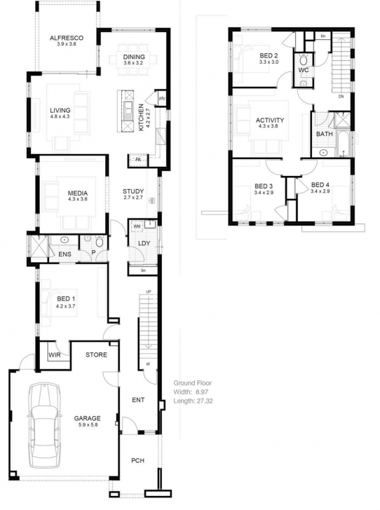 Latest Lot Narrow Plan House Designs Craftsman Narrow Lot House Plans Narrow Lot House Plan Picture