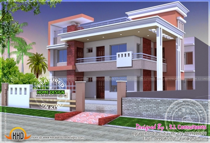 Latest Modern Duplex Home Kerala Design Floor Plans - Home Plans New Indian House Design 2017 Pic
