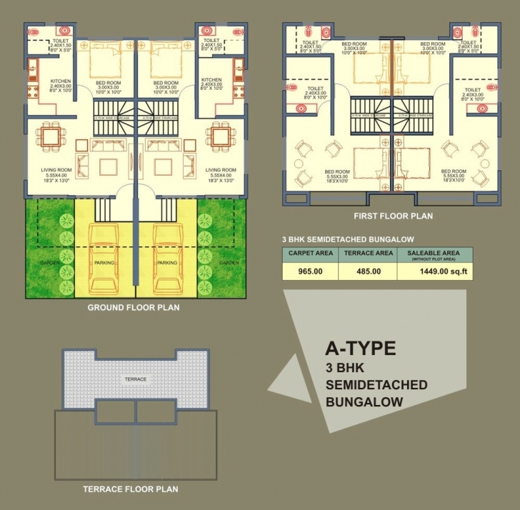 Latest Modern Semi Detached Bungalow Design And Layout Come With 2 Floor Semi Detached Bungalow Plans Picture