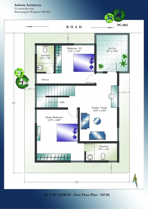 Latest North Facing Vastu Home Single Floor Tamilnadu House Plans North North Face 30X40 Site Plan Picture