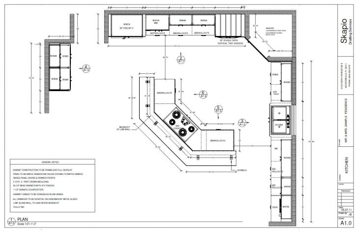 Latest Sample Kitchen Floor Plan | Shop Drawings | Pinterest | Kitchen House Plan Drawing Samples Image