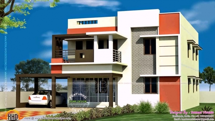 Latest South Indian House Front Elevation Designs For Ground Floor - Youtube House Front Elevation Designs Images Picture