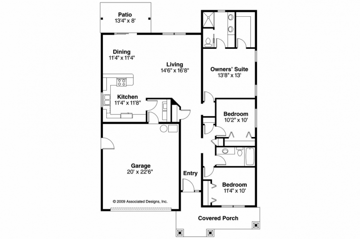 Latest Stunning Bedroom House Plans No Garage Contemporaryhouse 3Bedrooms With Garages Floor Plan Picture