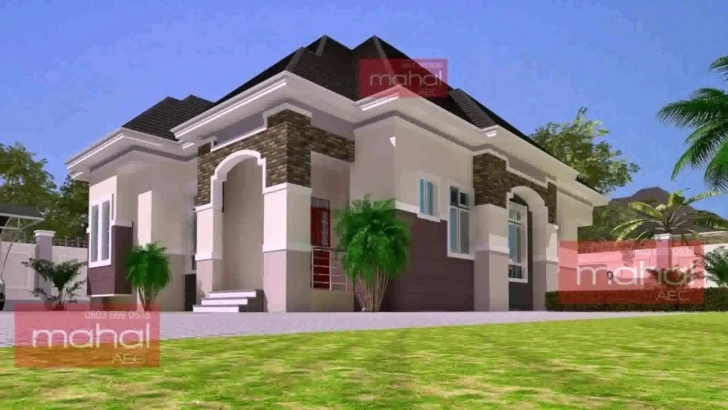 Marvelous 4 Bedroom Bungalow House Design In Nigeria - Youtube Four Bedroom Bungalow Plan In Nigeria Photo