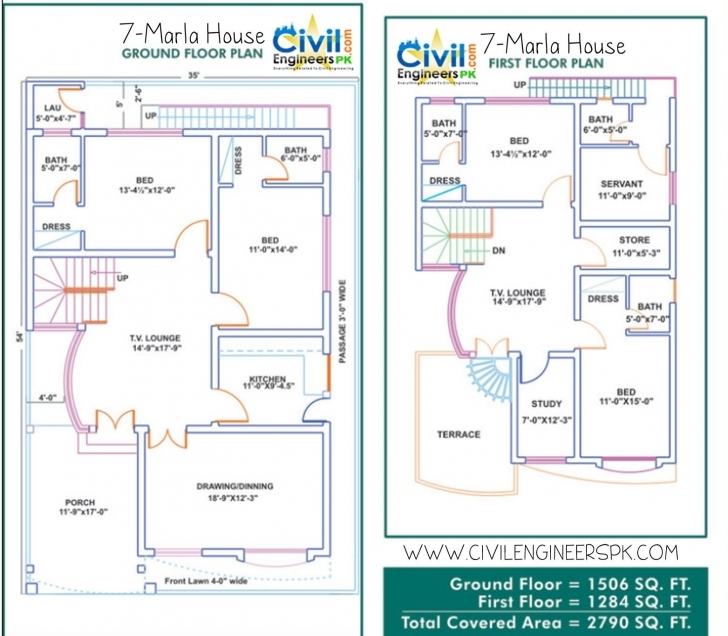 Marvelous 7 Marla House Plan Best Of 7 Marla House Plans Civil Engineers Pk 7 Marla House Map Image