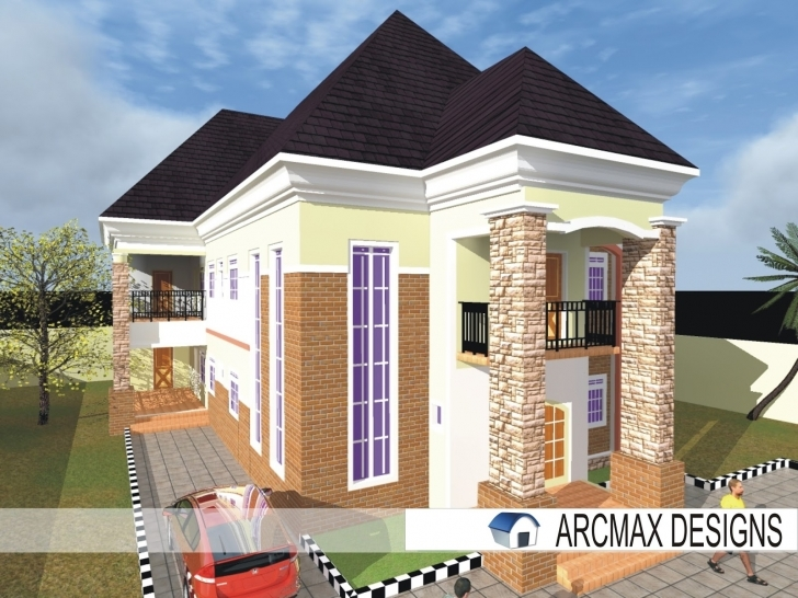 Marvelous Beautiful White Duplex (Designs) - Building Designs And Construction Best Building Plans In Nigeria Picture