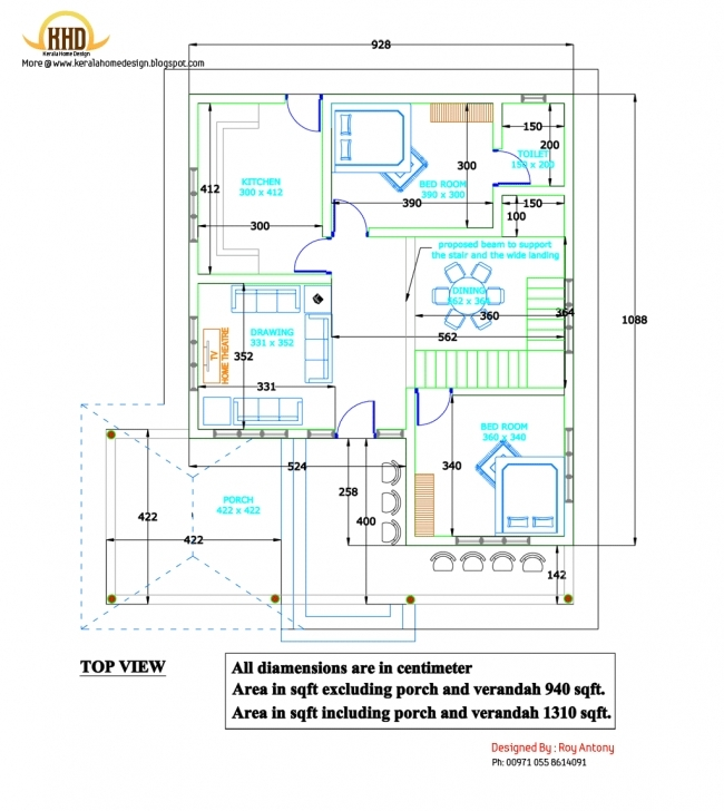 Marvelous Beautifully Idea 2D House Plans 15 House Plan On Home Design - Home 2D House Plan Pic