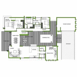 Simple 3 Bedroom House Plans With Double Garage