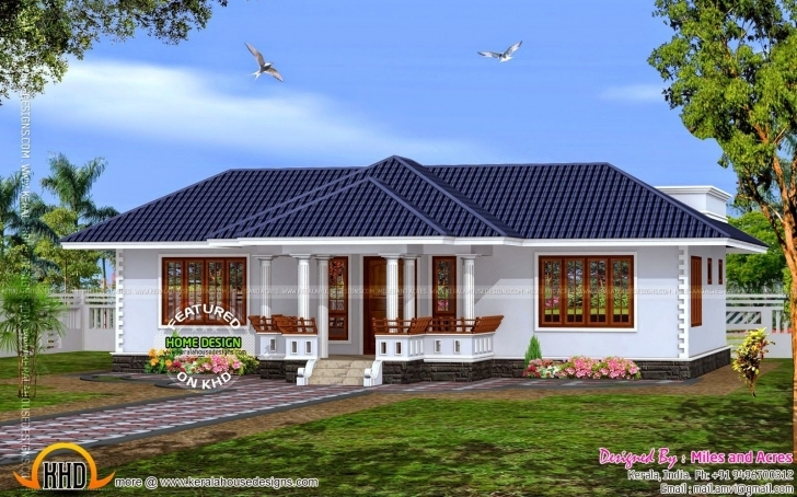 Marvelous Bedroom House Plans Kerala Style Buzz Online Plan Of Single Floor Fantastic Single Floor House Image