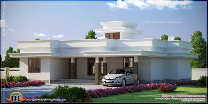 Marvelous Contemporary Flat Roof Single Storied House Model Indian Plans Beautiful Flat Roofed Houses Image