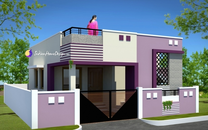Marvelous Contemporary Low Cost 800 Sqft 2 Bhk Tamil Nadu Small Home Design By Tamil Small House Model Photos Pic