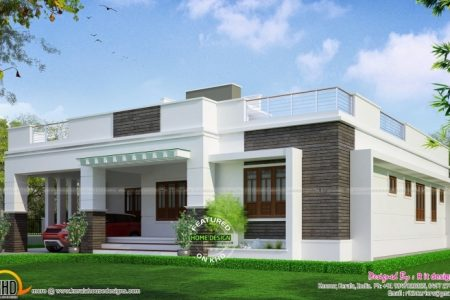 Simple Single Floor House Front Design