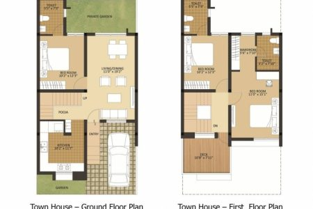 1200 Sq Ft House Plan With Car Parking In Bangalore