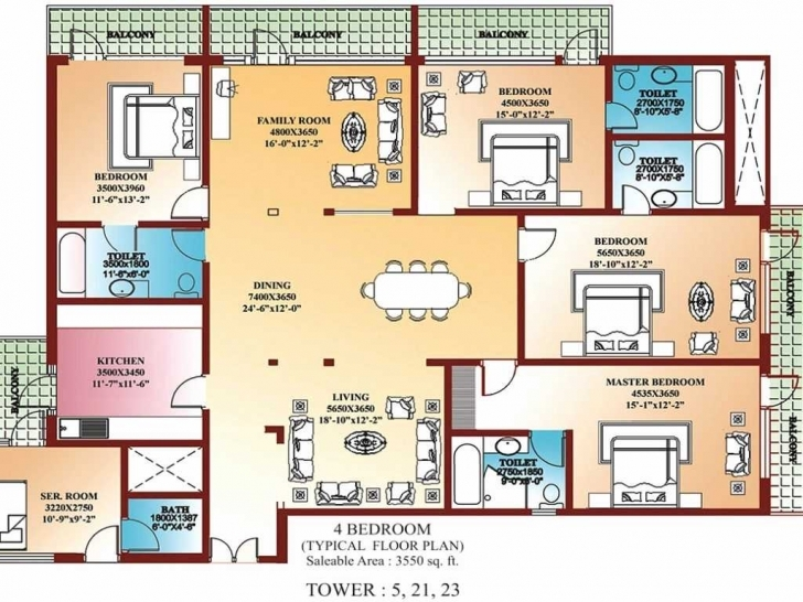 Marvelous Floor Plan For Four Bedroom House Of Flat 2018 And Stunning Ideas Building Plan Of Four Bedroom Picture