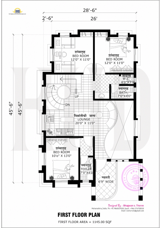 Marvelous Free Floor Plan Of 2365 Sq-Ft Home | Free Floor Plans, Roof Styles 3 Master Badroom 40/45 Half Polt Photo