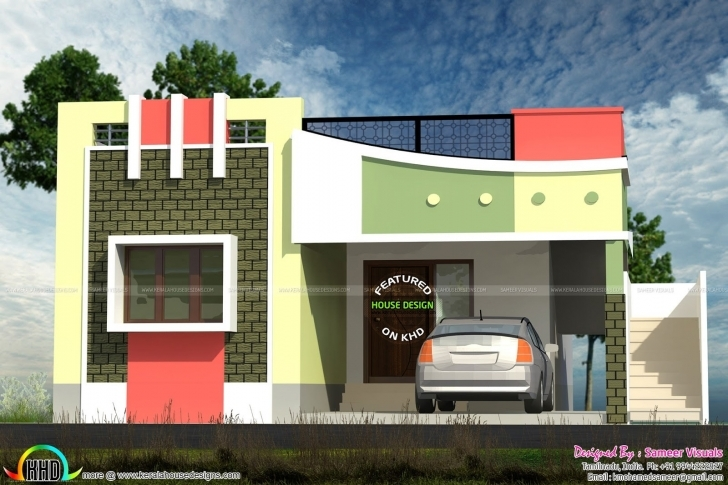 Marvelous Front Elevation Of Small Houses In India | The Best Wallpaper Of The Indian House Front Elevation Designs Photos Photo