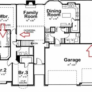 How To Draw A 3 Bedroom House