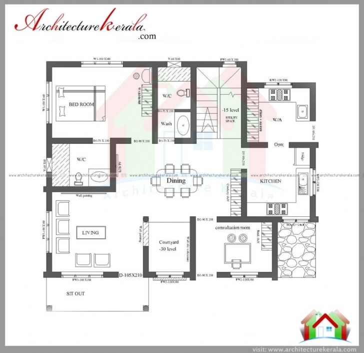 Marvelous House-Plan-Kerala-3-Bedrooms-Three-Bedroom-House-Plan-And-Elevation Kerala 3 Room House Photo