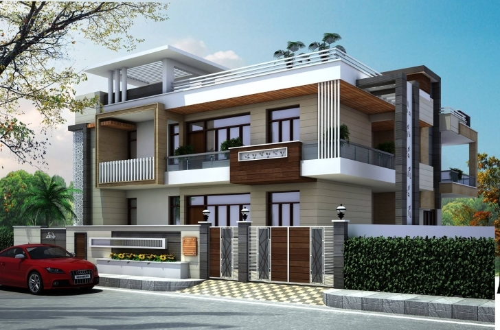 Marvelous Latest House Front Elevation Design By Gharbanavo – Ghar Banavo 30X60 House Front Elevation Designs Picture