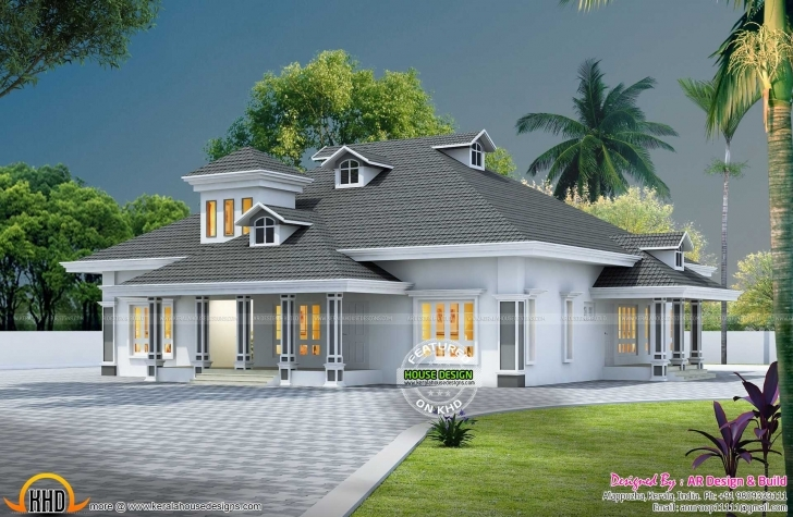 Marvelous Nalukettu Model House Plan Collection Including Outstanding 3D Home Kerala House Elevations With 3D View Picture
