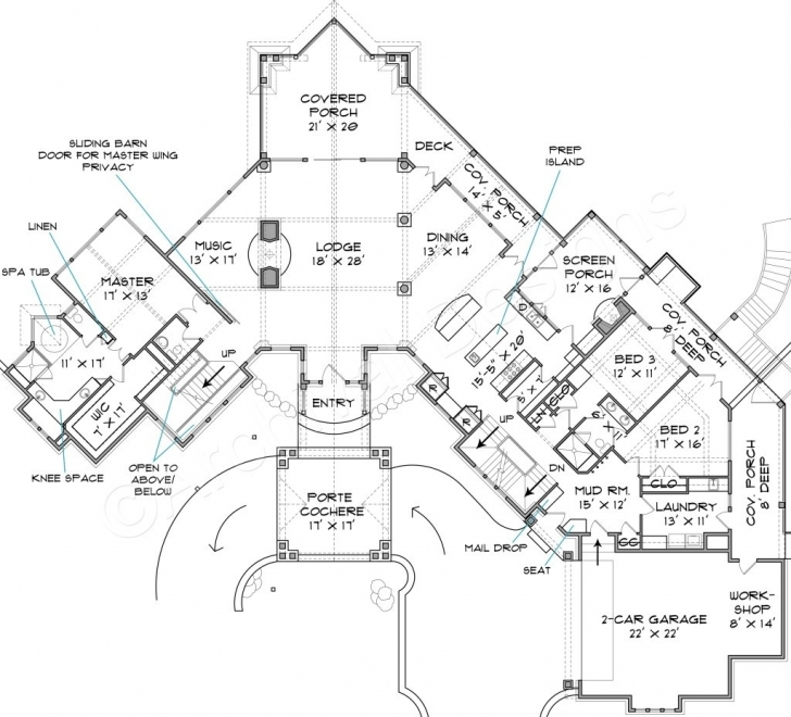 Marvelous Rocky Mountain Lodge House Plan Luxury Style Floor Fair Plans Rustic Mountain Home Floor Plans Photo