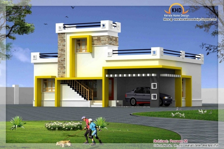 Marvelous Single Floor House Elevation #stairs Pinned By Www.modlar Front Elevation Ground Floor Buildings Picture