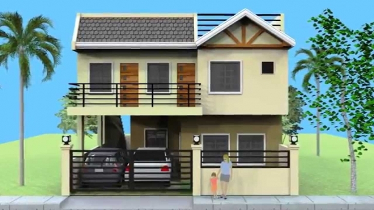 Marvelous Small 2 Storey House With Roofdeck - Youtube Simple Filipino 2 Storey House Design With Floor Plan Photo