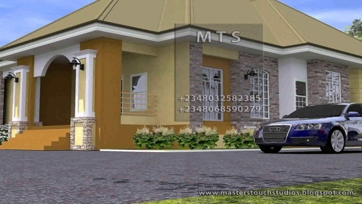 Most Inspiring 3 Bedroom House Design In Nigeria - Youtube 3 Bedroom Flat Plan On Half Plot In Nigeria Photo