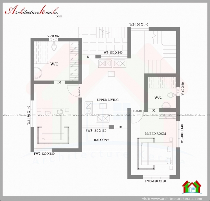 Most Inspiring 3 Bedroom House Plans In 4 Cents Luxury 2000 Sqft House In 3 5 Cent House Plans 4 Cent Plot Image