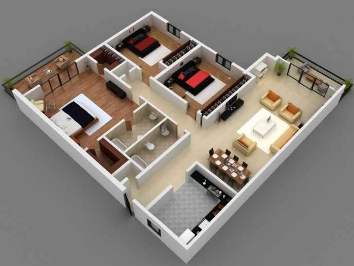 Most Inspiring 4 Bedroom 1 Story House Plans 3D Awesome Home Design 3 Bedroom 4 Bedroom 1 Story House Plans 3D Photo