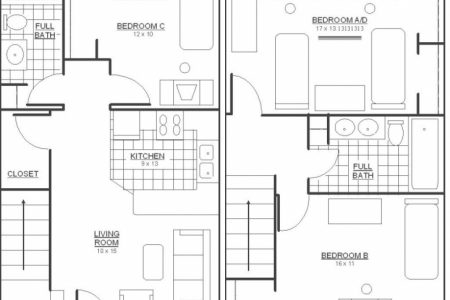 3 Bedroom Flat Floor Plan Pdf