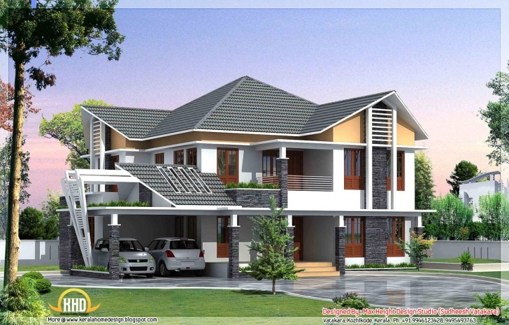 Most Inspiring 7 Beautiful Kerala Style House Elevations | Home Appliance 3D House Model Kerala Pic