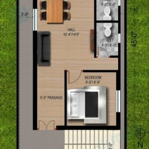20 45 House Plans North Facing