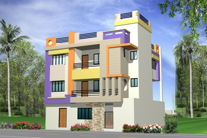 Most Inspiring Exterior Front Elevation - Gharexpert Front Elevation 30*30 Image