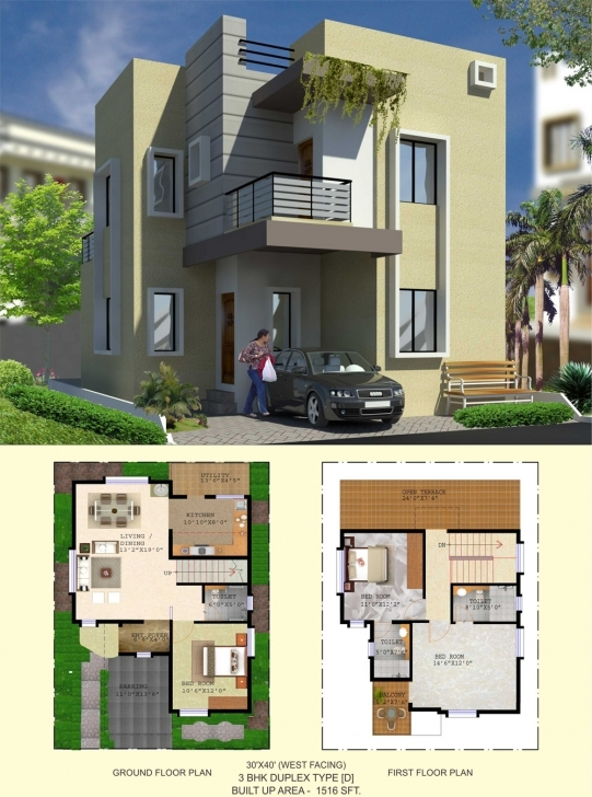 Most Inspiring Floor Plan - Balaboomi City 30 40 3 Bhk House Plans East Facing Image