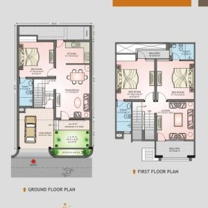 20 X 35 Duplex House Plan