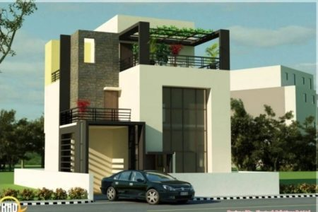 Front Elevation Of Indian House 30X50 Site Single Floor