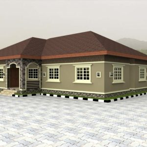 4 Bedroom Flat Bungalow Plan In Nigeria