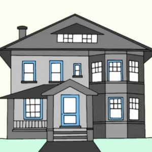 How To Draw A Beautiful House Step By Step
