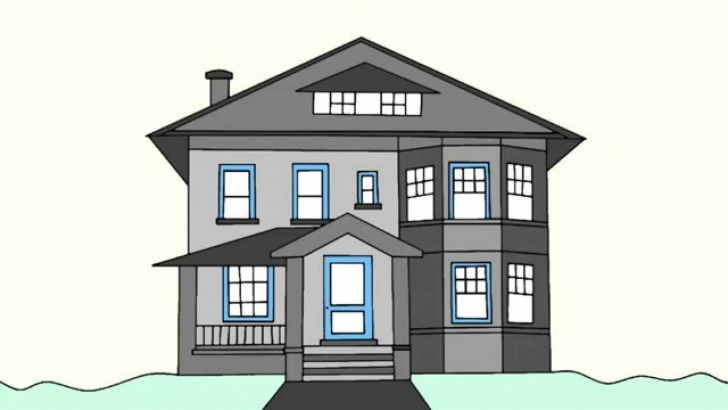 Most Inspiring How To Draw A House Step By Step For Beginners - Youtube How To Draw A Beautiful House Step By Step Pic