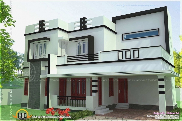 Most Inspiring Modern 4 Bedroom House Designs Inspirational Flat Roof 4 Bedroom 4 Bedroom Modern House Plans In Kerala Pic
