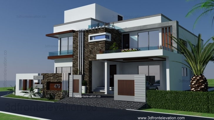 Most Inspiring Modern House Plan Front Elevation Design Tulip Corner Plot - Home Modern Home Plan And Elevation Image