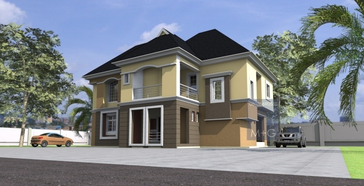 Most Inspiring Nigerian Residential Architecture Luxury Bedroom Storey Building Modern Nigerian 2-Story House Plans Photo