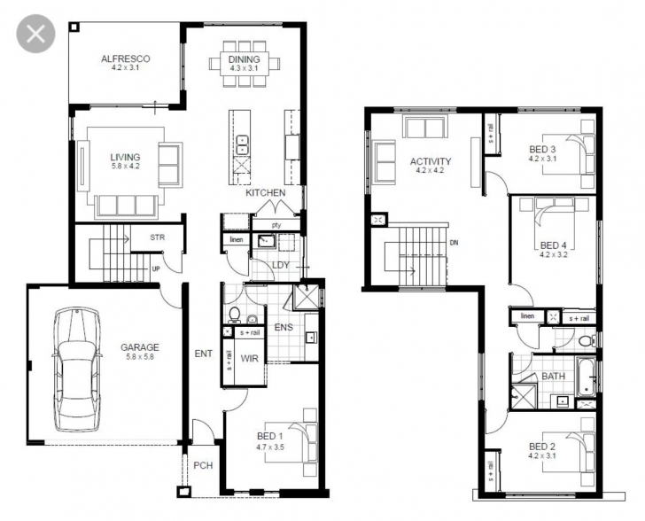 Most Inspiring Pin By Alexandra On Houses | Pinterest | House 4 Bedroom Modern House Plans Image