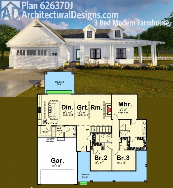 Most Inspiring Plan 62637Dj: Modern Farmhouse Plan | Farmhouse Plans, Modern Modern Farmhouse Ranch Floor Plans Pic